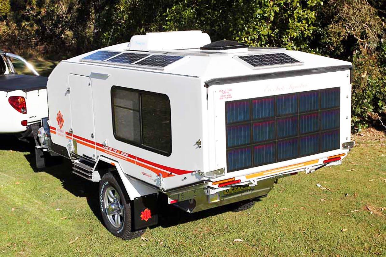 Kimberley Kamper. A good example of caravan air conditioning.