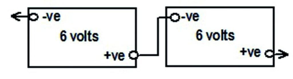 batteries series (6-12 volt)