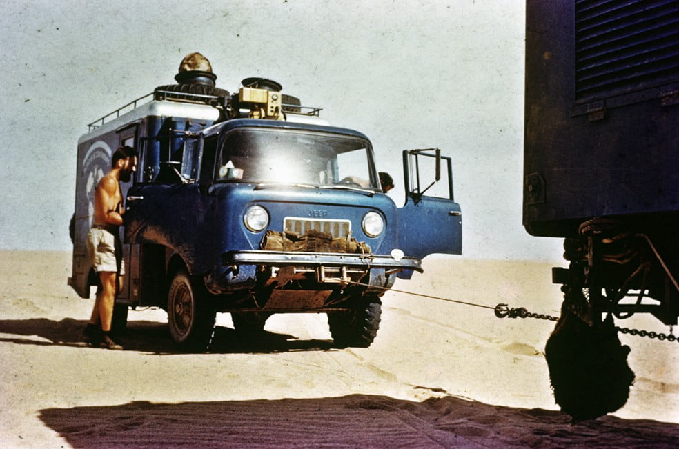 Africa - jeep close up on tow